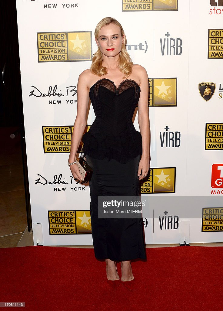Actress Diane Kruger arrives at Broadcast Television Journalists Association's third annual Critics' Choice Television Awards at The Beverly Hilton Hotel on June 10, 2013 in Beverly Hills, California.
