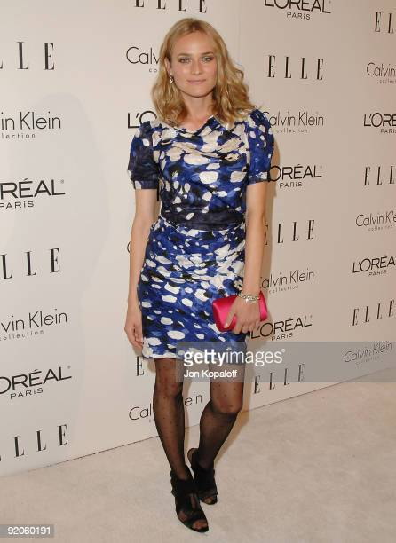 Actress Diane Kruger arrives at ELLE's 16th Annual Women In Hollywood Event at the Four Seasons Hotel on October 19 2009 in Beverly Hills California