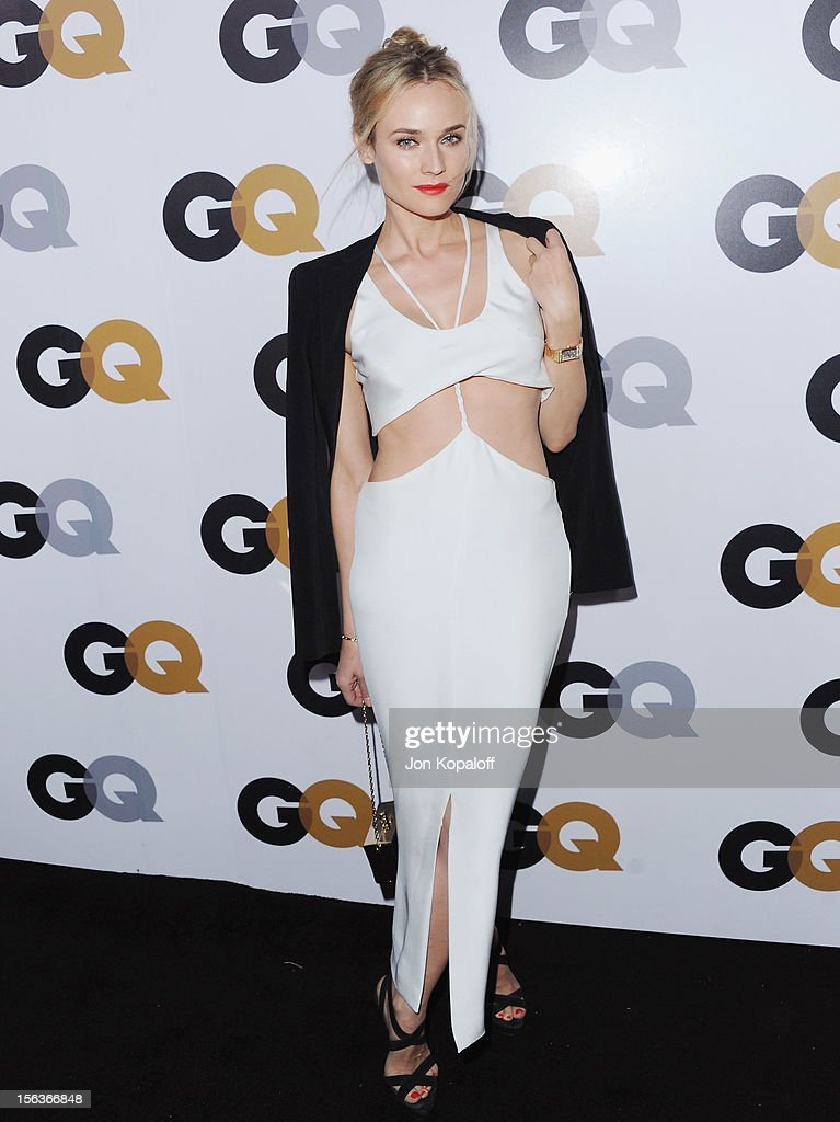 Actress <a gi-track='captionPersonalityLinkClicked' href=/galleries/search?phrase=Diane+Kruger&family=editorial&specificpeople=202640 ng-click='$event.stopPropagation()'>Diane Kruger</a> arrives at GQ Men Of The Year Party at Chateau Marmont on November 13, 2012 in Los Angeles, California.