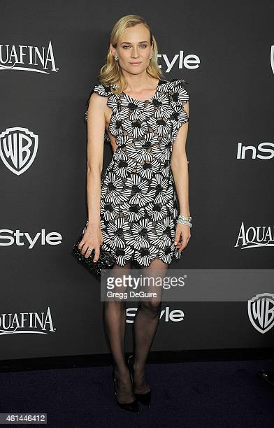 Actress Diane Kruger arrives at the 16th Annual Warner Bros And InStyle PostGolden Globe Party at The Beverly Hilton Hotel on January 11 2015 in...