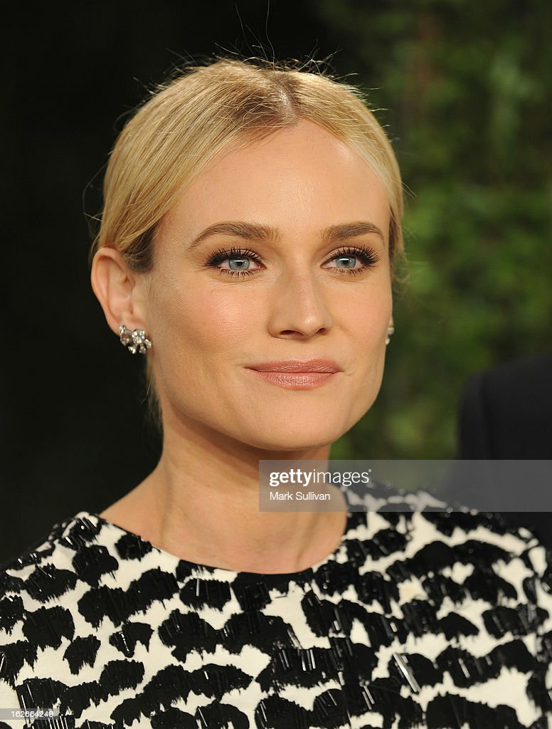 Actress Diane Kruger arrives at the 2013 Vanity Fair Oscar Party at Sunset Tower on February 24, 2013 in West Hollywood, California.