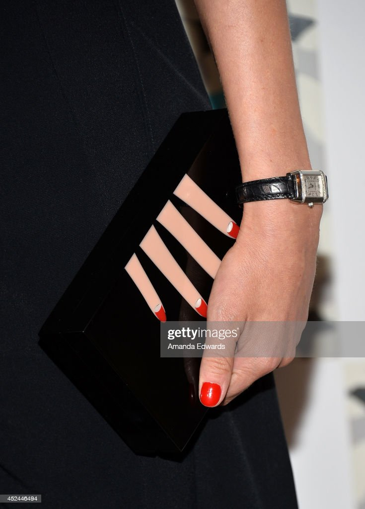 Actress Diane Kruger (clutch and watch detail) arrives at the 2014 Television Critics Association Summer Press Tour - FOX All-Star Party at Soho House on July 20, 2014 in West Hollywood, California.