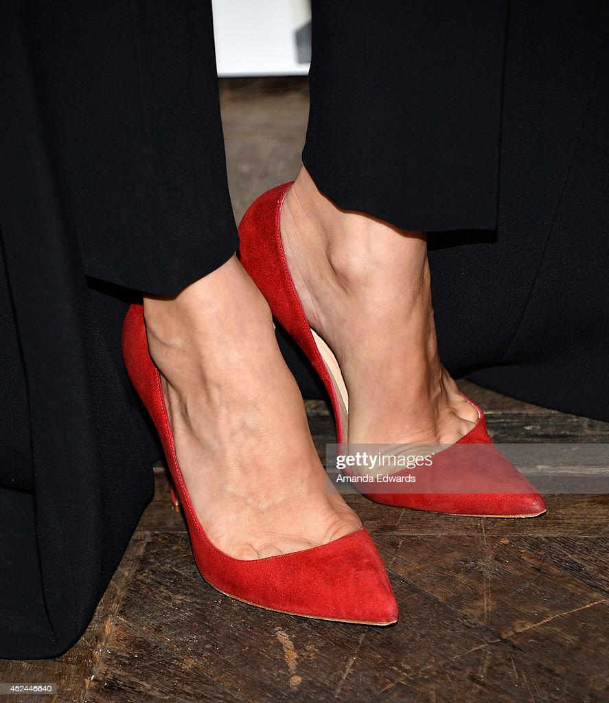 Actress Diane Kruger (shoe detail) arrives at the 2014 Television Critics Association Summer Press Tour - FOX All-Star Party at Soho House on July 20, 2014 in West Hollywood, California.