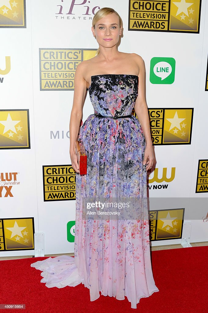 Actress <a gi-track='captionPersonalityLinkClicked' href=/galleries/search?phrase=Diane+Kruger&family=editorial&specificpeople=202640 ng-click='$event.stopPropagation()'>Diane Kruger</a> arrives at the 4th Annual Critics' Choice Television Awards at The Beverly Hilton Hotel on June 19, 2014 in Beverly Hills, California.