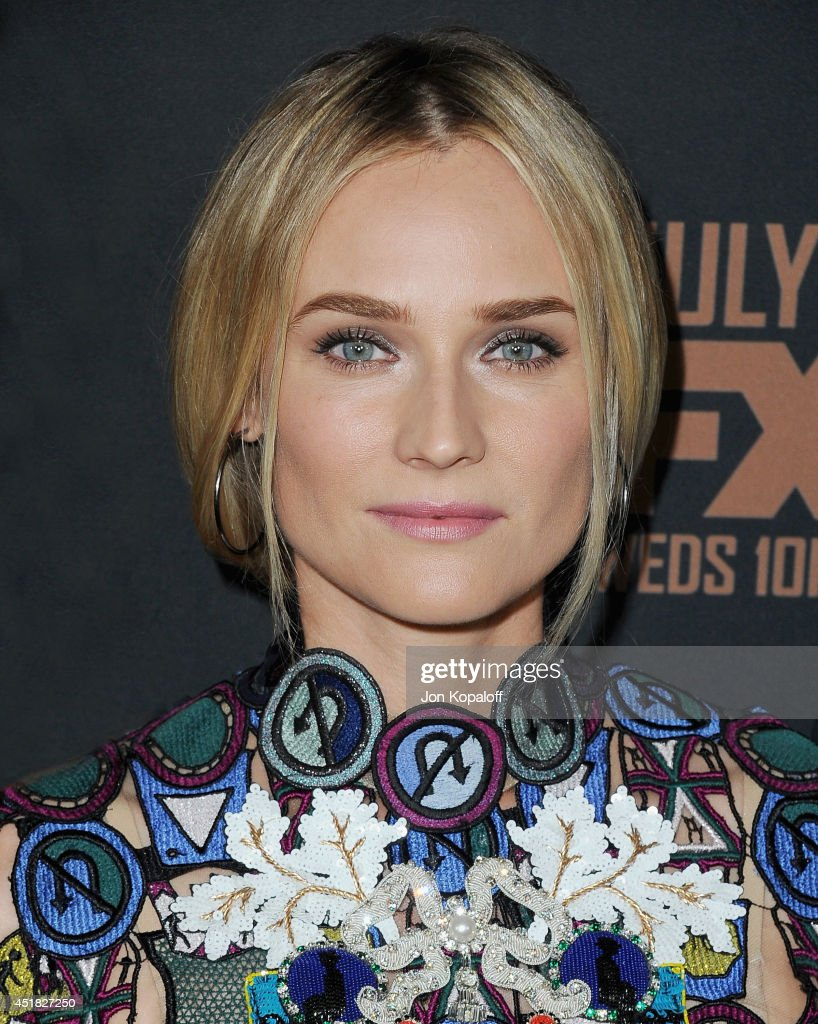 Actress <a gi-track='captionPersonalityLinkClicked' href=/galleries/search?phrase=Diane+Kruger&family=editorial&specificpeople=202640 ng-click='$event.stopPropagation()'>Diane Kruger</a> arrives at the FX's 'The Bridge' Season 2 Premiere at Pacific Design Center on July 7, 2014 in West Hollywood, California.
