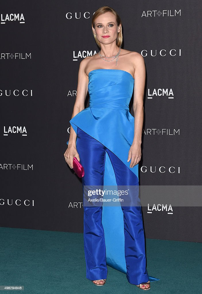 Actress Diane Kruger arrives at the LACMA 2015 ArtFilm Gala Honoring James Turrell And Alejandro G Inarritu Presented By Gucci at LACMA on November 7...