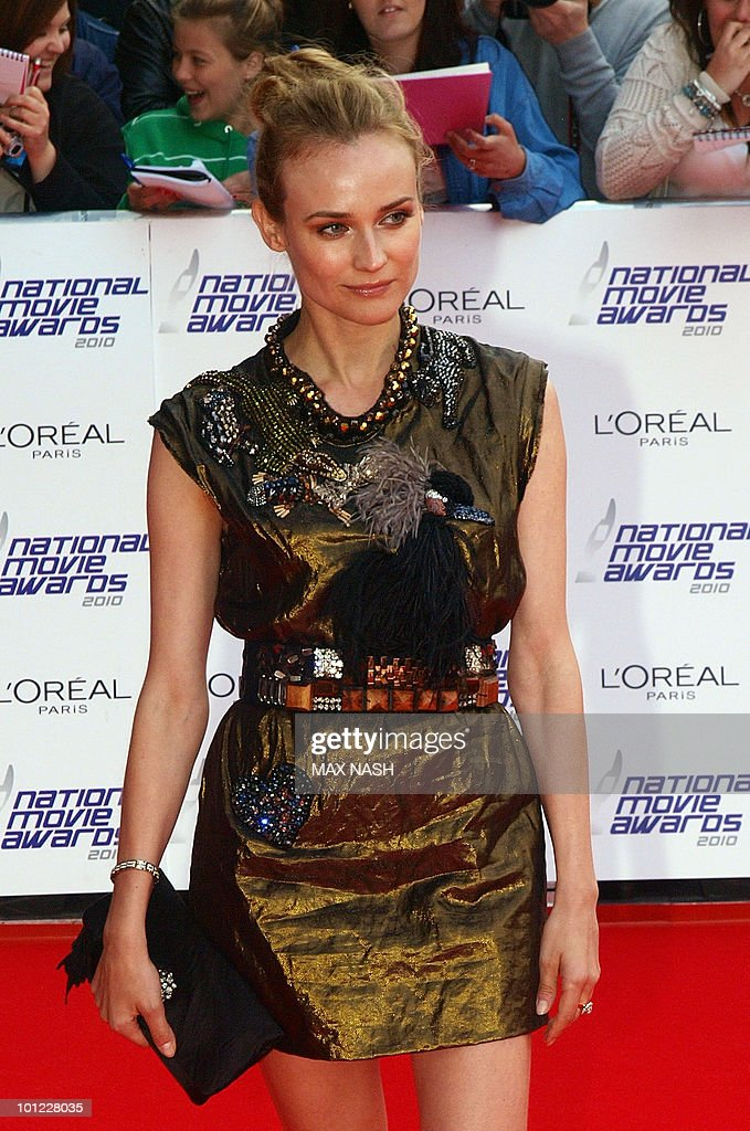 US actress Diane Kruger arrives at the National Movie Awards in London's Royal Festival Hall on May 26, 2010. AFP Photo/MAX