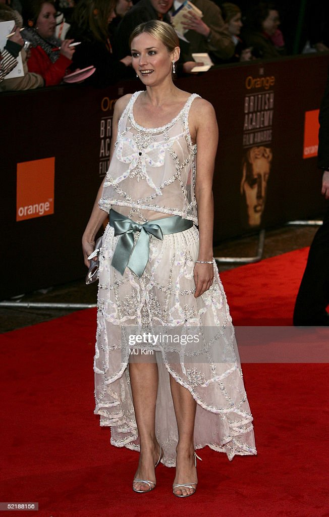 Actress Diane Kruger arrives at the Orange British Academy Film and Television Awards at the Odeon Leicester Square February 12 2005 in London