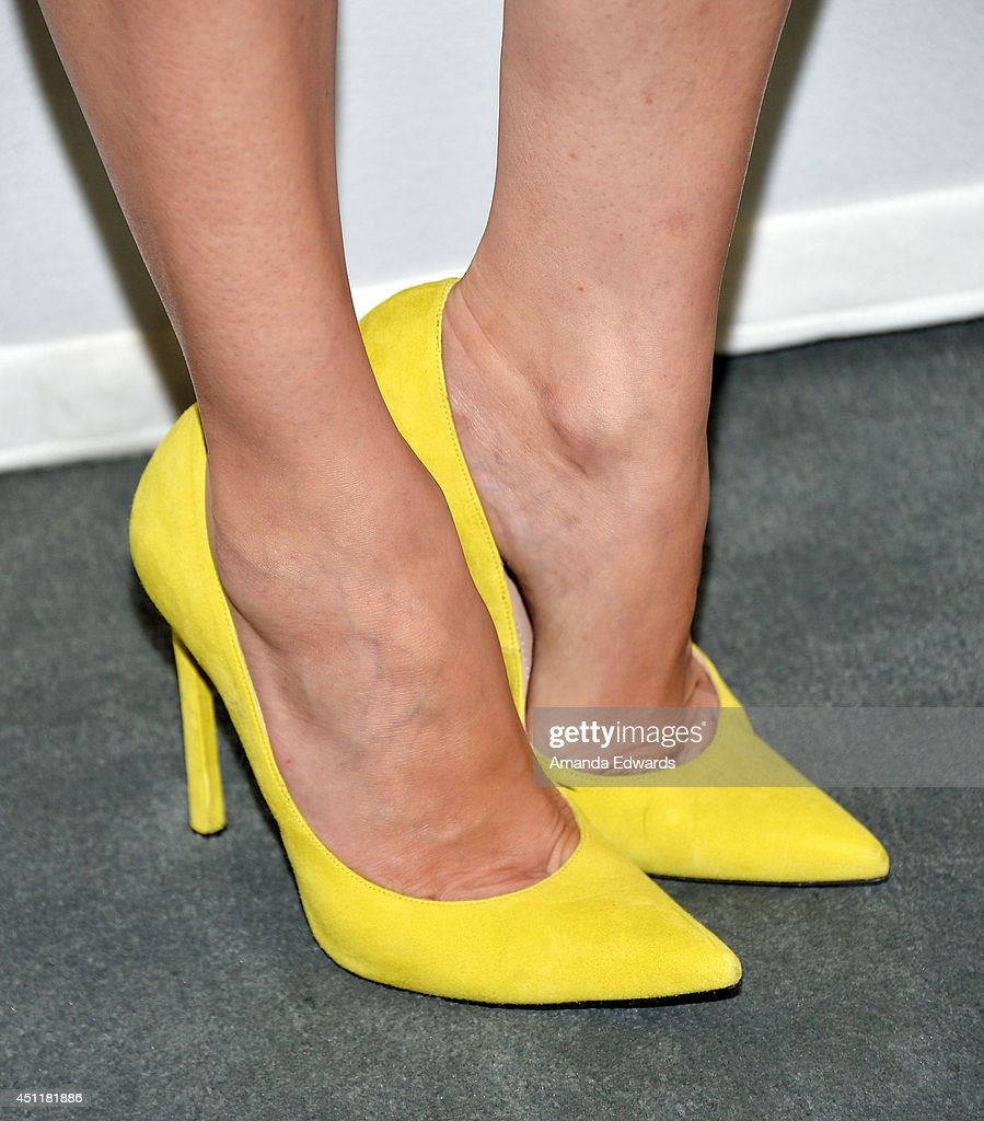 actress <a gi-track='captionPersonalityLinkClicked' href=/galleries/search?phrase=Diane+Kruger&family=editorial&specificpeople=202640 ng-click='$event.stopPropagation()'>Diane Kruger</a> (shoe detail) arrives at The Paley Center for Media's premiere screening of FX's 'The Bridge' at The Paley Center for Media on June 24, 2014 in Beverly Hills, California.