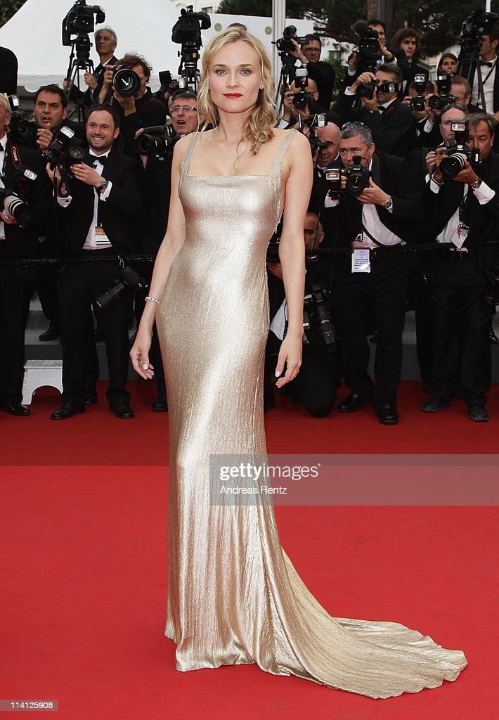 Actress <a gi-track='captionPersonalityLinkClicked' href=/galleries/search?phrase=Diane+Kruger&family=editorial&specificpeople=202640 ng-click='$event.stopPropagation()'>Diane Kruger</a> arrives at the 'Sleeping Beauty' premiere during the 64th Annual Cannes Film Festival at the Palais des Festivals on May 12, 2011 in Cannes, France.
