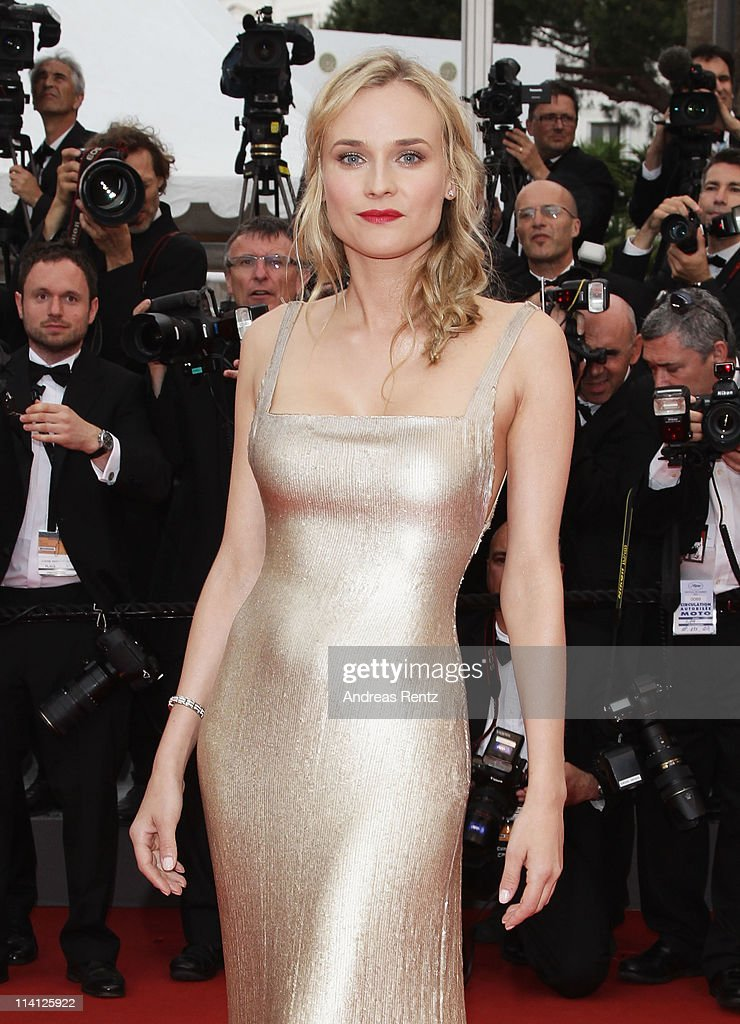 Actress Diane Kruger arrives at the 'Sleeping Beauty' premiere during the 64th Annual Cannes Film Festival at the Palais des Festivals on May 12 2011...