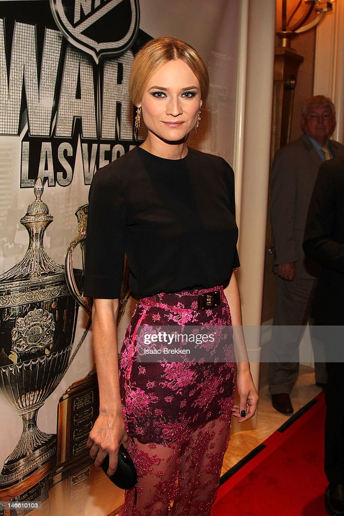 Actress Diane Kruger arrives before the 2012 NHL Awards at the Encore Theater at the Wynn Las Vegas on June 20, 2012 in Las Vegas, Nevada.