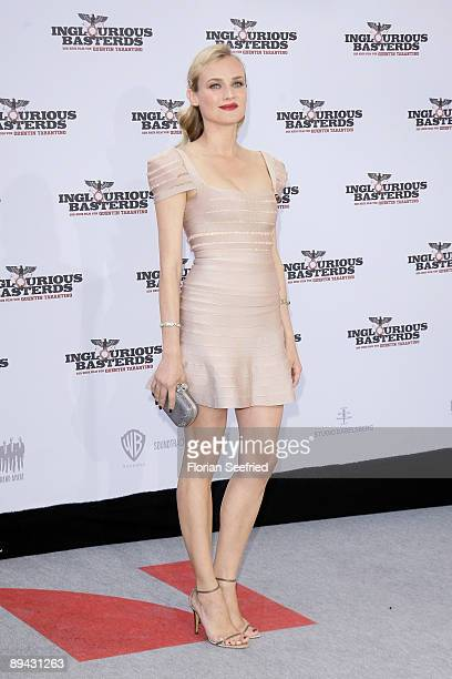 Actress Diane Kruger arrives for the Germany premiere of 'Inglourious Basterds' at the Theater am Potsdamer Platz on July 28 2009 in Berlin Germany