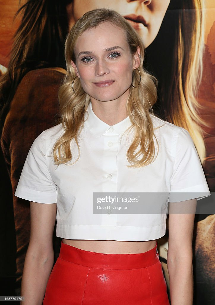 Actress Diane Kruger attends a signing for Stephenie Meyer's book 'The Host' at Barnes & Noble bookstore at The Grove on March 15, 2013 in Los Angeles, California.