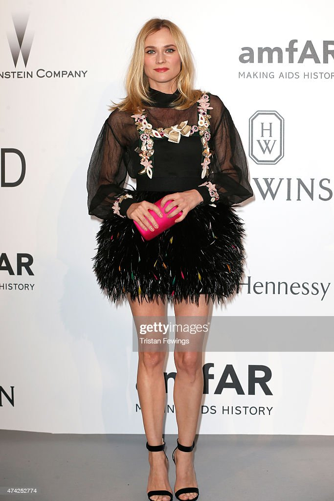 Actress Diane Kruger attends amfAR's 22nd Cinema Against AIDS Gala, Presented By Bold Films And Harry Winston at Hotel du Cap-Eden-Roc on May 21, 2015 in Cap d'Antibes, France.
