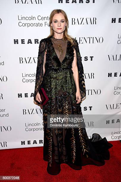 Actress Diane Kruger attends an evening honoring Valentino at Lincoln Center Corporate Fund Black Tie Gala on December 7 2015 in New York City