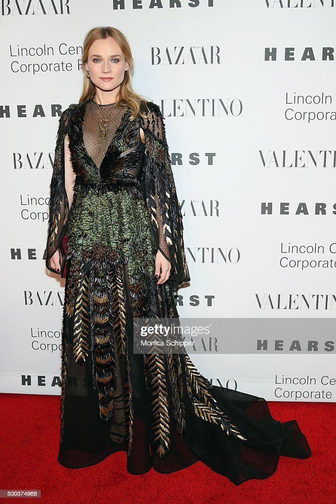Actress <a gi-track='captionPersonalityLinkClicked' href=/galleries/search?phrase=Diane+Kruger&family=editorial&specificpeople=202640 ng-click='$event.stopPropagation()'>Diane Kruger</a> attends 'An Evening Honoring Valentino' Lincoln Center Corporate Fund Gala - Inside Arrivals at Alice Tully Hall at Lincoln Center on December 7, 2015 in New York City.