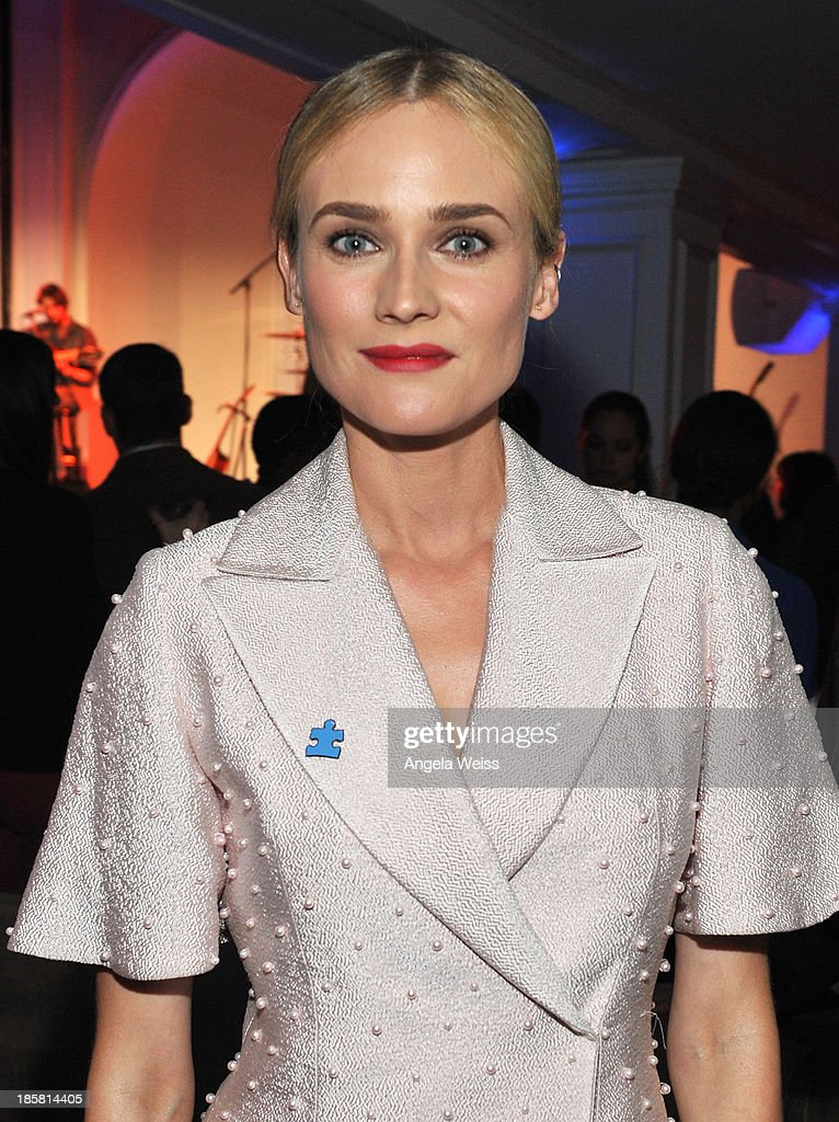 Actress <a gi-track='captionPersonalityLinkClicked' href=/galleries/search?phrase=Diane+Kruger&family=editorial&specificpeople=202640 ng-click='$event.stopPropagation()'>Diane Kruger</a> attends Autism Speaks' 3rd Annual 'Blue Jean Ball' presented by The GUESS Foundation at Boulevard 3 on October 24, 2013 in Hollywood, California.