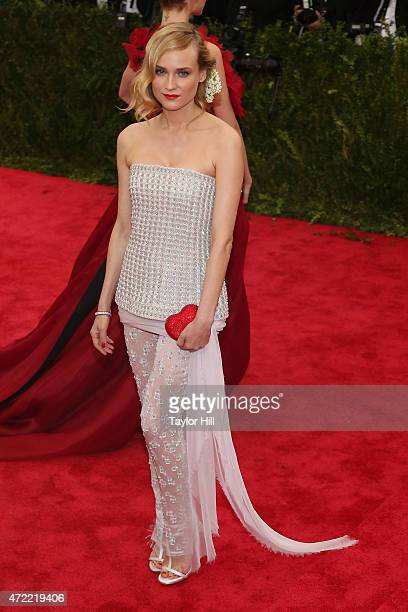 Actress Diane Kruger attends 'China Through the Looking Glass' the 2015 Costume Institute Gala at Metropolitan Museum of Art on May 4 2015 in New...