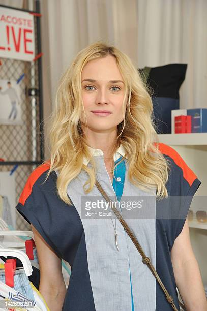 Actress Diane Kruger attends day 1 of LACOSTE LVE Hosts a desert pool party in celebration of Coachella on April 14 2012 in Thermal California