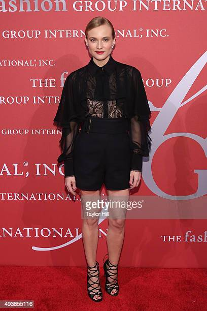 Actress Diane Kruger attends Fashion Group International's 2015 Night of Stars The Revolutionaries at Cipriani Wall Street on October 22 2015 in New...