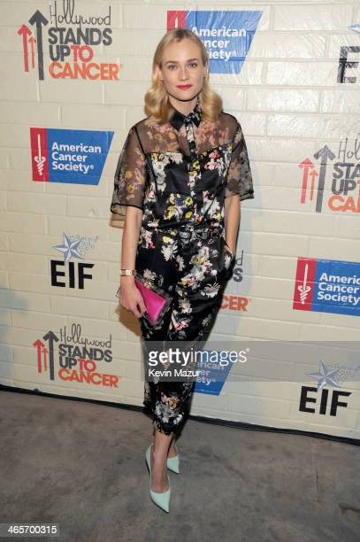 Actress Diane Kruger attends Hollywood Stands Up To Cancer Event with contributors American Cancer Society and Bristol Myers Squibb hosted by Jim...
