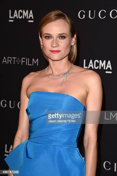 Actress Diane Kruger attends LACMA 2015 ArtFilm Gala Honoring James Turrell and Alejandro G Iñárritu Presented by Gucci at LACMA on November 7 2015...