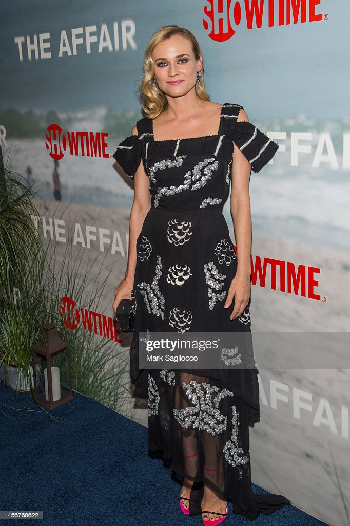 Actress <a gi-track='captionPersonalityLinkClicked' href=/galleries/search?phrase=Diane+Kruger&family=editorial&specificpeople=202640 ng-click='$event.stopPropagation()'>Diane Kruger</a> attends premiere of SHOWTIME drama 'The Affair' held at North River Lobster Company on October 6, 2014 in New York City.