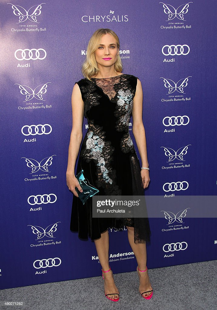 Actress <a gi-track='captionPersonalityLinkClicked' href=/galleries/search?phrase=Diane+Kruger&family=editorial&specificpeople=202640 ng-click='$event.stopPropagation()'>Diane Kruger</a> attends the 13th Annual Chrysalis Butterfly Ball at a private Mandeville Canyon Estate on June 7, 2014 in Los Angeles, California.