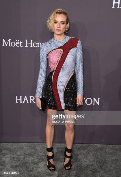 Actress Diane Kruger attends the 19th annual amfAR's New York Gala to kick off NY Fashion Week at Cipriani Wall Street on February 8 2017 in New York...
