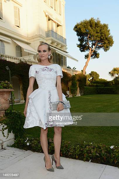 Actress Diane Kruger attends the 2012 amfAR's Cinema Against AIDS during the 65th Annual Cannes Film Festival at Hotel Du Cap on May 24 2012 in Cap...