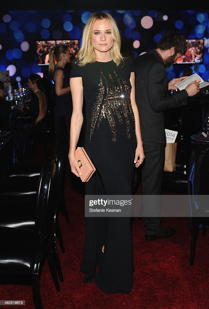 Actress <a gi-track='captionPersonalityLinkClicked' href=/galleries/search?phrase=Diane+Kruger&family=editorial&specificpeople=202640 ng-click='$event.stopPropagation()'>Diane Kruger</a> attends the 2014 InStyle And Warner Bros. 71st Annual Golden Globe Awards Post-Party at The Beverly Hilton Hotel on January 12, 2014 in Beverly Hills, California.