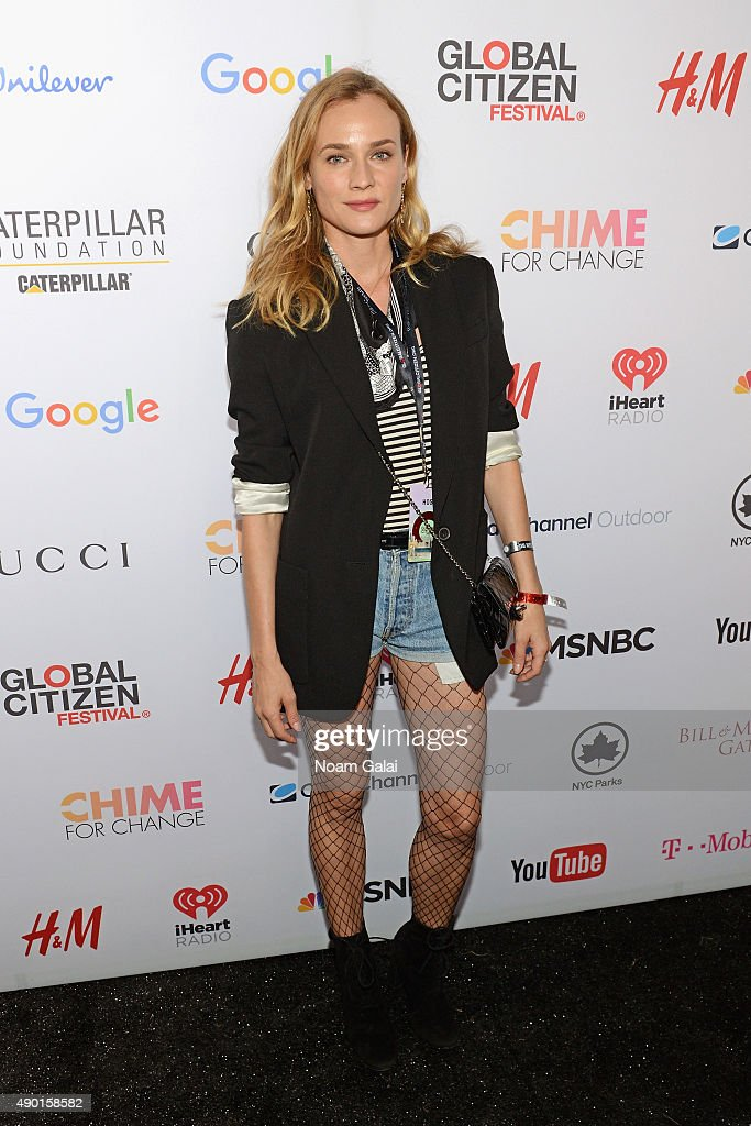 Actress <a gi-track='captionPersonalityLinkClicked' href=/galleries/search?phrase=Diane+Kruger&family=editorial&specificpeople=202640 ng-click='$event.stopPropagation()'>Diane Kruger</a> attends the 2015 Global Citizen Festival to end extreme poverty by 2030 in Central Park on September 26, 2015 in New York City.