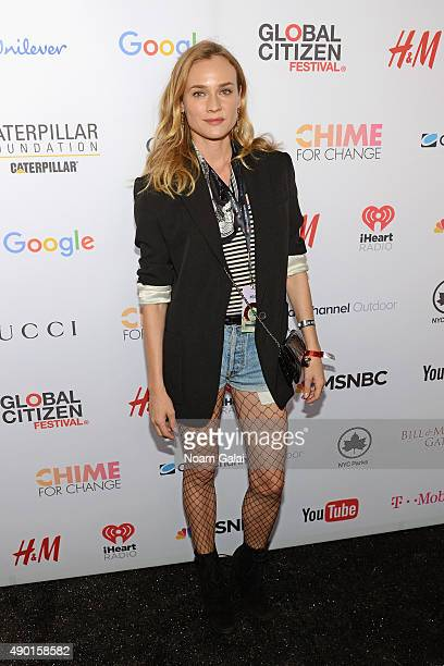 Actress Diane Kruger attends the 2015 Global Citizen Festival to end extreme poverty by 2030 in Central Park on September 26 2015 in New York City