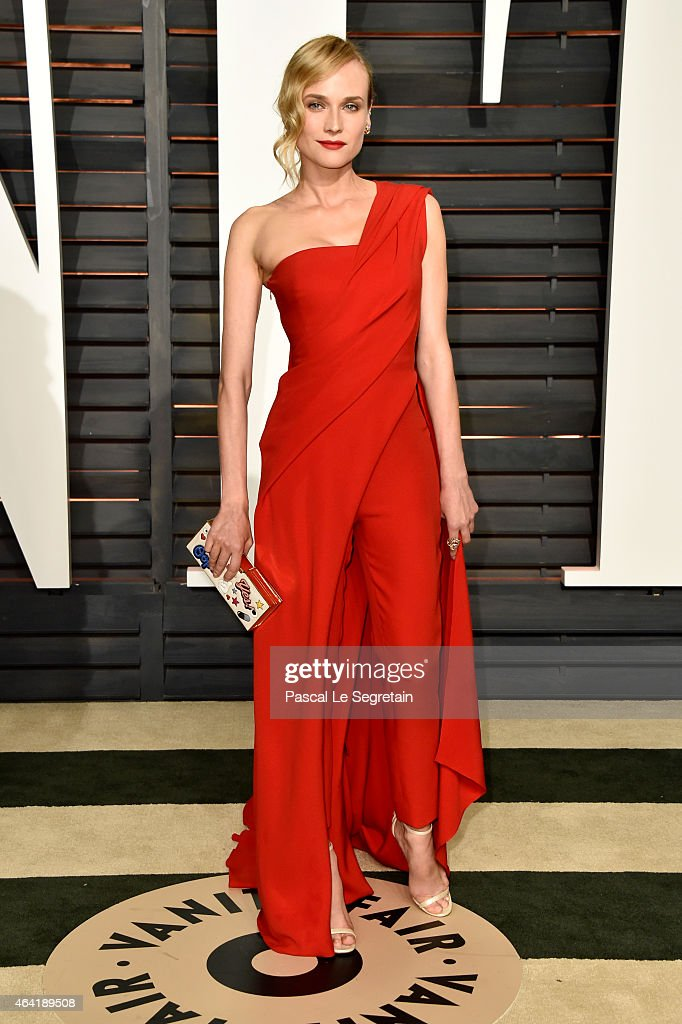 Actress Diane Kruger attends the 2015 Vanity Fair Oscar Party hosted by Graydon Carter at Wallis Annenberg Center for the Performing Arts on February 22, 2015 in Beverly Hills, California.