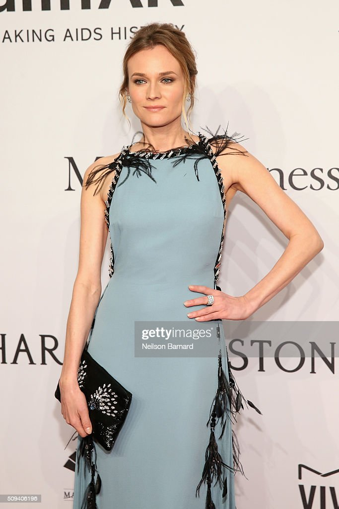 Actress <a gi-track='captionPersonalityLinkClicked' href=/galleries/search?phrase=Diane+Kruger&family=editorial&specificpeople=202640 ng-click='$event.stopPropagation()'>Diane Kruger</a> attends the 2016 amfAR New York Gala at Cipriani Wall Street on February 10, 2016 in New York City.
