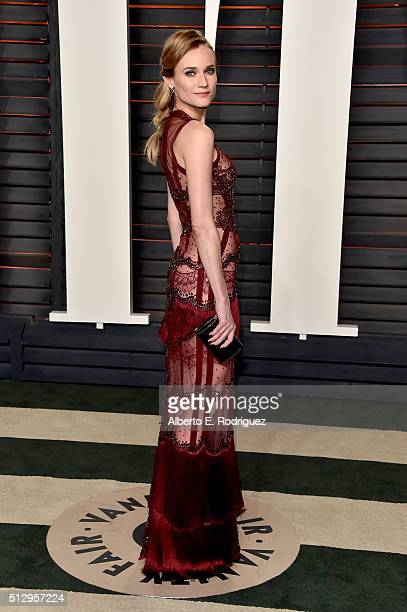 Actress Diane Kruger attends the 2016 Vanity Fair Oscar Party hosted By Graydon Carter at Wallis Annenberg Center for the Performing Arts on February...