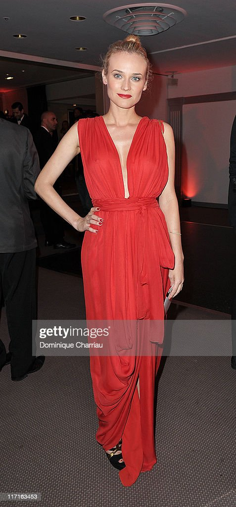 Actress <a gi-track='captionPersonalityLinkClicked' href=/galleries/search?phrase=Diane+Kruger&family=editorial&specificpeople=202640 ng-click='$event.stopPropagation()'>Diane Kruger</a> attends the 25th amfAR Inspiration Gala at Pavillon Gabriel on June 23, 2011 in Paris, France.