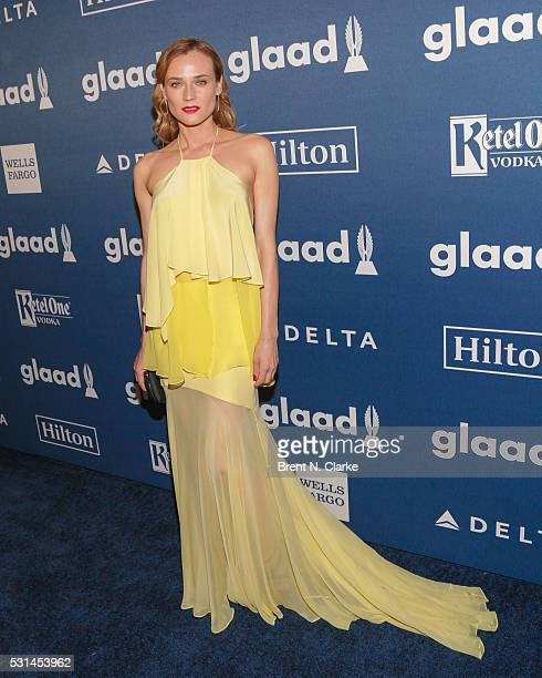Actress Diane Kruger attends the 27th Annual GLAAD Media Awards held at The Waldorf=Astoria on May 14 2016 in New York City