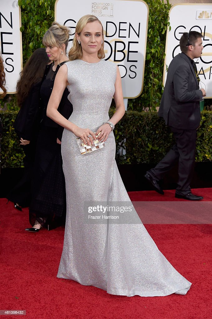 Actress <a gi-track='captionPersonalityLinkClicked' href=/galleries/search?phrase=Diane+Kruger&family=editorial&specificpeople=202640 ng-click='$event.stopPropagation()'>Diane Kruger</a> attends the 72nd Annual Golden Globe Awards at The Beverly Hilton Hotel on January 11, 2015 in Beverly Hills, California.