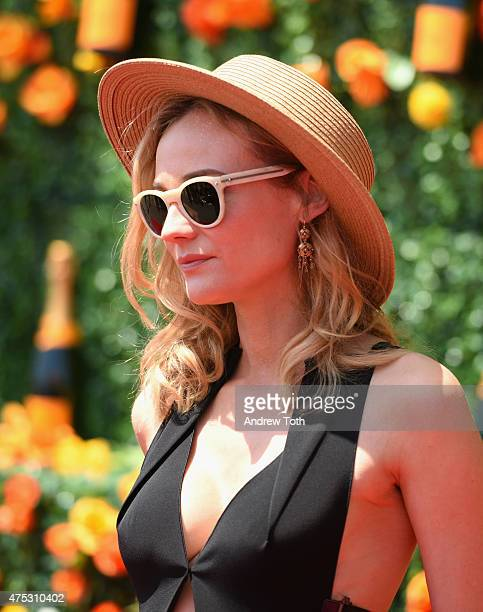 Actress Diane Kruger attends the 8th Annual Veuve Clicquot Polo Classic at Liberty State Park on May 30 2015 in Jersey City New Jersey