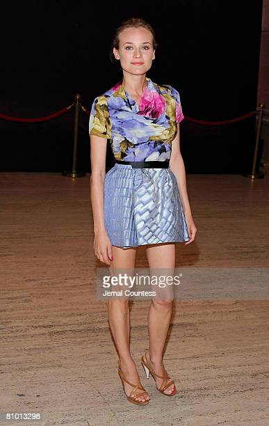 Actress Diane Kruger attends the 'A Diamond Is Forever' Luncheon for Antony Todd at Grand Central Station on May 6 2008 in New York City