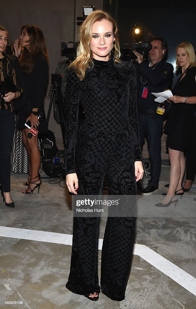 Actress Diane Kruger attends the BALMAIN X H&M Collection Launch at 23 Wall Street on October 20, 2015 in New York City.