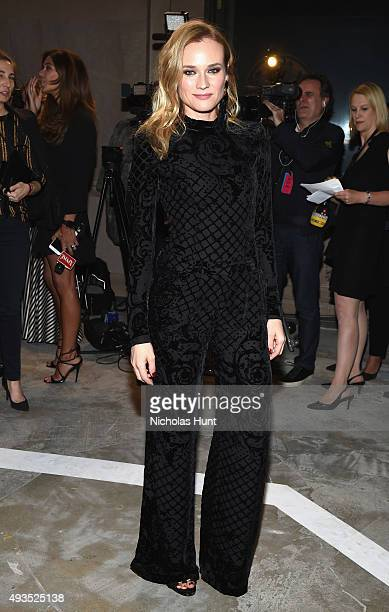 Actress Diane Kruger attends the BALMAIN X HM Collection Launch at 23 Wall Street on October 20 2015 in New York City