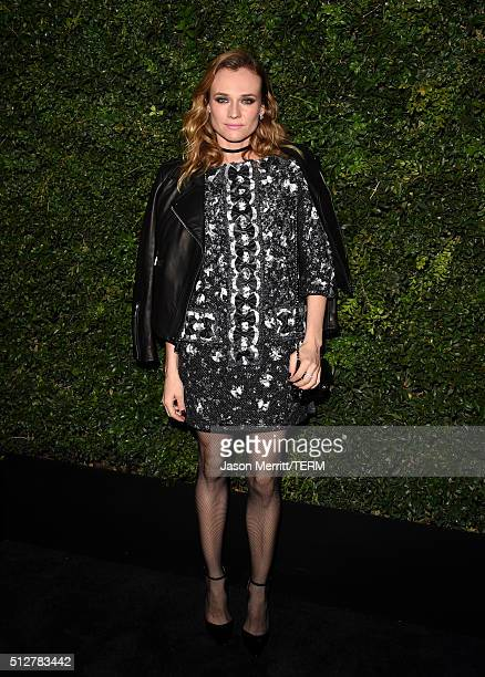Actress Diane Kruger attends the Charles Finch and Chanel PreOscar Awards Dinner at Madeo Restaurant on February 27 2016 in Los Angeles California