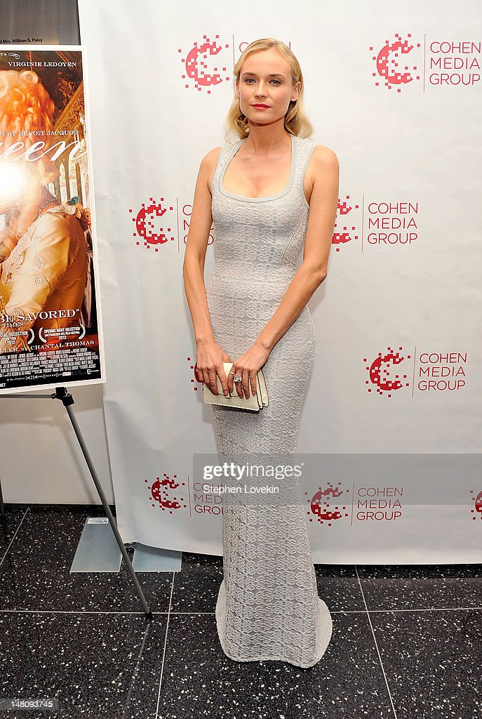 Actress <a gi-track='captionPersonalityLinkClicked' href=/galleries/search?phrase=Diane+Kruger&family=editorial&specificpeople=202640 ng-click='$event.stopPropagation()'>Diane Kruger</a> attends the 'Farewell, My Queen' New York Screening at MOMA on July 9, 2012 in New York City.