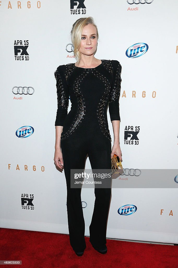 Actress Diane Kruger attends the FX Networks Upfront screening of 'Fargo' at SVA Theater on April 9, 2014 in New York City.