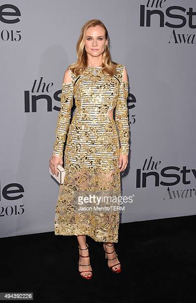 Actress Diane Kruger attends the InStyle Awards at Getty Center on October 26 2015 in Los Angeles California