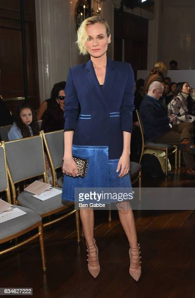Actress Diane Kruger attends the Jason Wu collection Front Row during New York Fashion Week at The St Regis on February 10 2017 in New York City