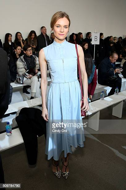 Actress Diane Kruger attends the Jason Wu Fall 2016 fashion show during New York Fashion Week at Spring Studios on February 12 2016 in New York City